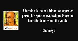 education is the best friend an educated quote