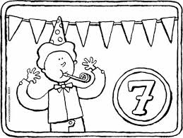 7 Jaar Kleurplaat Kleurprent Tekening 01k 30 Verjaardag