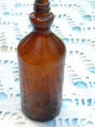 clorox bleach brown glass bottle