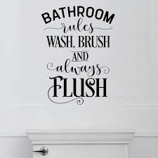 Red Barrel Studio Bathroom Rules Vinyl Wall Decal Reviews Wayfair