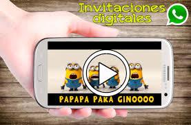 Minions Video Invitaciones Animadas Cumpleanos Whatsapp 349 99