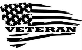 Amazon Com Cartat2s Veteran Distressed American Flag Vinyl Decal 5 X 3 Inches Glossy Black Old Glory Grunge Look Patriotic Car Truck Hood Wall Window Toolbox Bumper Sticker Kitchen Dining