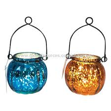 china colorful glass hanging candle