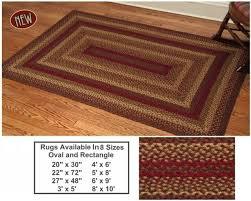 cinnamon 10x15 braided rug swatch for