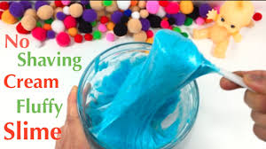 diy fluffy slime without shaving cream