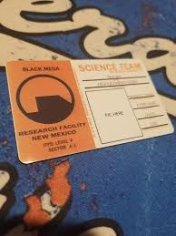 Black Mesa Id Card Etsy