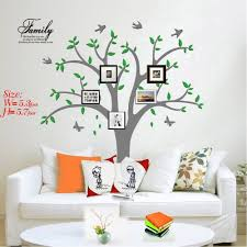 Amazon Com Ares Family Tree Wall Decal With Butterflies And Birds Simple Style Wall Decal Living Room Home Decor Wall Sticker Grey Home Kitchen