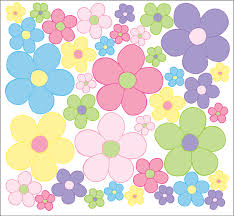 Pastel Daisy Flower Wall Decals Stickers Flower Wall Decor Graphics For Children S Or Nursery Room In Pastel Colors Purple Pink Green Yellow And Blue Walmart Com Walmart Com