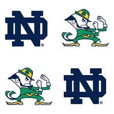Notre Dame Fighting Irish Face Decals 4ct Party City
