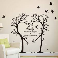 Family Love Tree Quote Wall Stickers Living Room Removable Decal Home Decor Sale For Sale Online