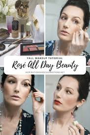 fall makeup tutorial rose all day