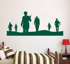 Army Solider Wall Decal Home Decor Vinyl Poster Military Army Men Wall Mural Removable Teenboys Bedroom Decor Wallpaper Y 629 Decor Wallpaper Decorative Vinylwall Decals Aliexpress