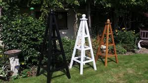 bespoke wooden garden obelisks hand