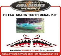 Shark Teeth Decal Kit Great For Small Kayak And Boats Etc 8 X 16 Ebay