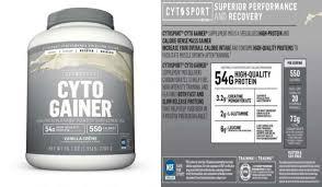 cytosport cytogainer vanilla shake 6
