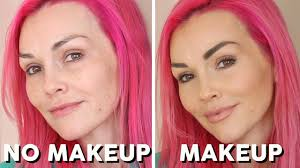 faking perfect skin no makeup makeup