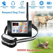 Best Offer 2ef144 Dog Fence Wireless Training Collar Outdoor 2 In 1 Electric Wireless Fence W Remote Adjustable Range Waterproof Reflective Cicig Co