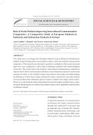 pdf role of social media in improving intercultural communication