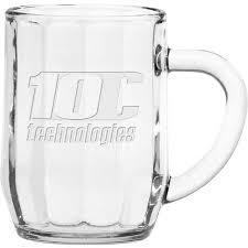 10 oz optic haworth glass coffee mug