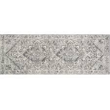 b548 villa cream dark grey runner rug