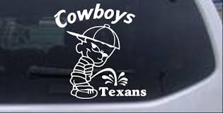 Cowboys Pee On Texans Decal Car Or Truck Window Decal Sticker Rad Dezigns