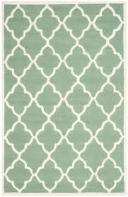 mint green round rug at rug studio
