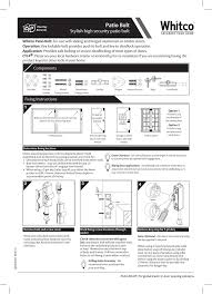 cyl4 patio bolt fitting instructions