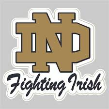 Notre Dame Fighting Irish Die Cut Transfer Decal