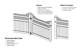 Vinyl Privacy Fence Gate Outdoor Privacy Fence Gate