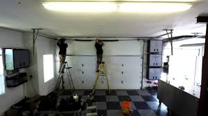 garage door high lifted tracking with a