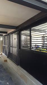 Sliding Adjustable Privacy Screen Louvers With Sliding Panel Eco Awnings