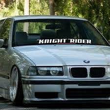 Knight Rider Car Windshield Banner Vinyl Sticker Ebay