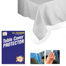 crystal clear vinyl tablecloth