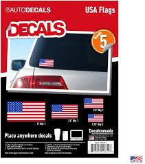 Amazon Com Decalcomania Usa American Flag Sticker Vinyl Decal 5 Pack Size Variety Automotive