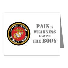 14 X 14 Inches Pain Is Weakness Leaving The Body Wall Vinyl Decal Sign Wall Stickers Murals
