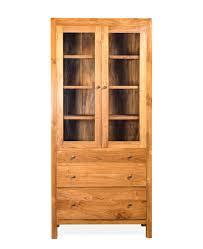 harlin teak glass cabinet