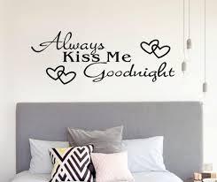 Always Kiss Me Goodnight Wall Decal Personalized Wall Sticker Boys Girls Decal Nursery Decor Vinyl Wall Decal Beauty Wall Wall Stickers Aliexpress