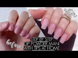 diy dip powder nails at home the