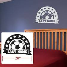 Soccer Decal Personalized Decal Boy Girls Personalized Room Fathead Style Soccer Ebay