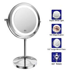 lighted makeup mirror 7 inch led