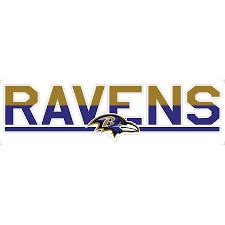 Baltimore Ravens 3 X 10 Duo Tone Car Decal
