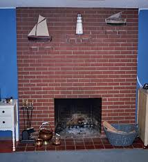 painting an old brick fireplace