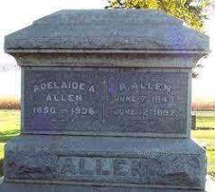 """Adeliade """"Addie"""" Allen (Townsend) (1850 - 1936) - Genealogy"""
