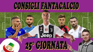 Consigli Fantacalcio 25 giornata Serie A - Chi mettere al ...