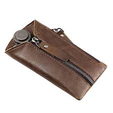 vintage leather key wallet keychain
