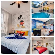 renovated pool home with themed rooms