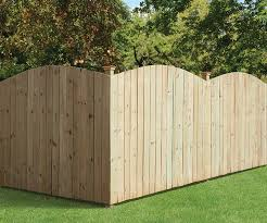 Outdoor Essentials 6x8 Halfmoon Privacy Fence Outdoor Essentials Wood Fence Fence