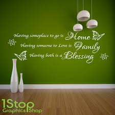 Home Family Blessing Wall Sticker Quote Home Lounge Love Wall Art Decal X139 Ebay