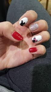 Minnie Mouse & Mickey Mouse Gel Nail Art