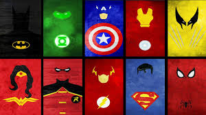 74 superheroes logos wallpaper on